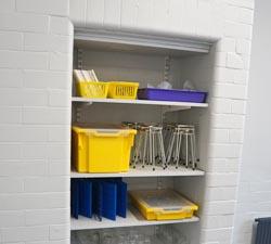 School science laboratory shelving for Bacup & Rawtenstall Grammar School