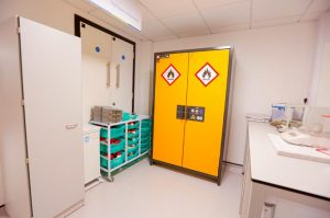 Klick laboratory storage - tall unit and chemical store