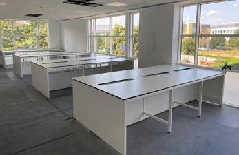 Lab construction in progress