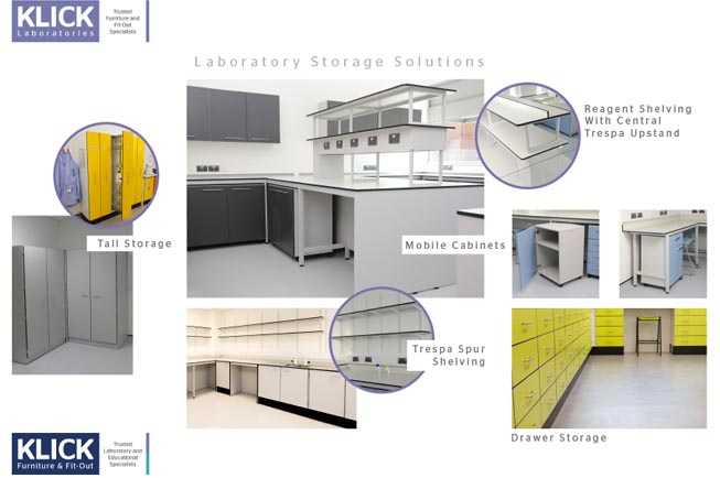 Laboratory Storage Solutions - Klick Laboratories