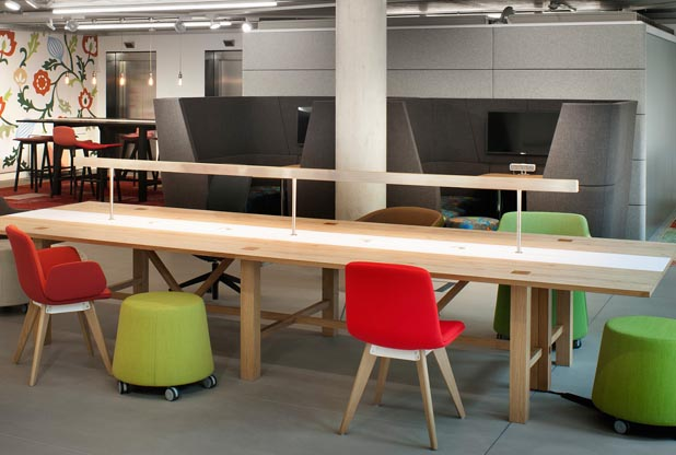 Breakout furniture for laboratory workplaces