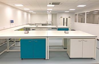 laboratory furniture fit out - klick laboratories