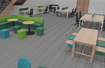 Mezzanine floor breakout space